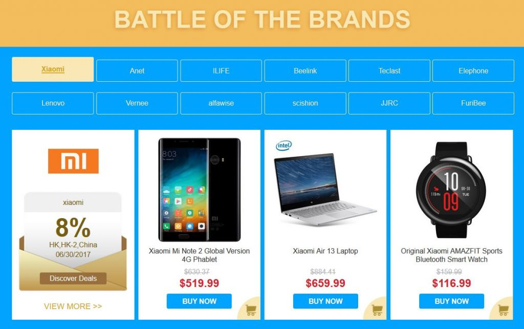 Xiaomi Products gearbest promo code