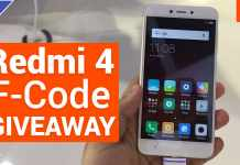 Xiaomi Redmi 4 F-Code GIVEAWAY