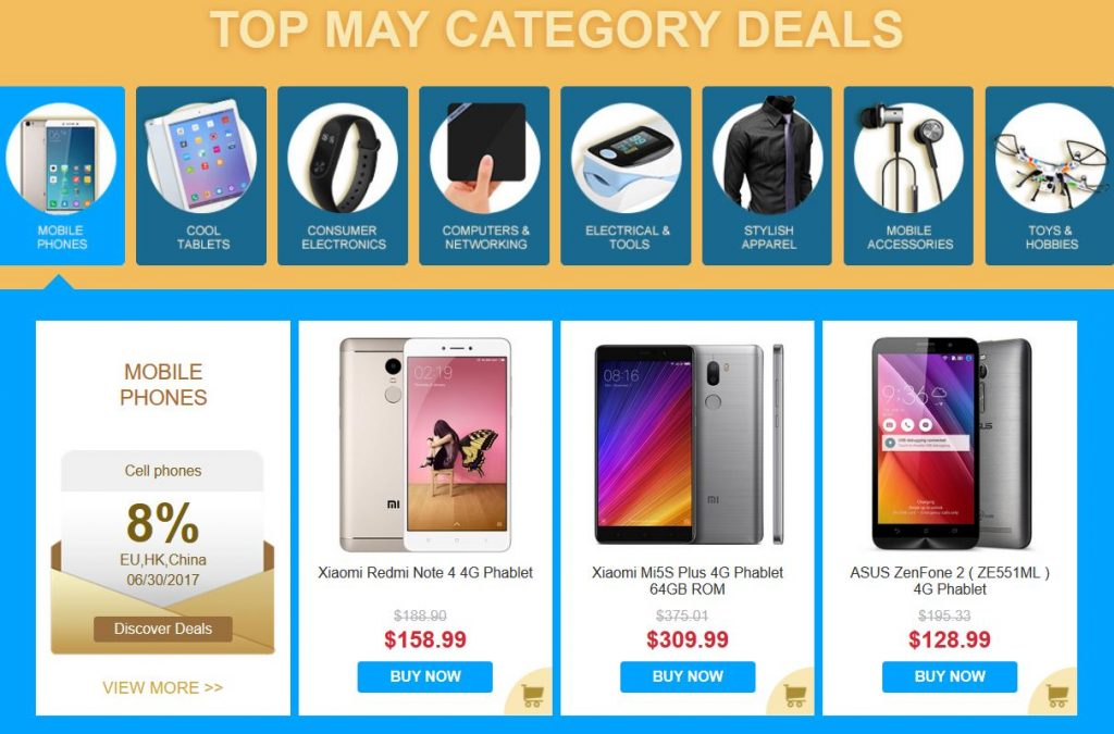 gearbest promotion code on Xiaomi prodicts may