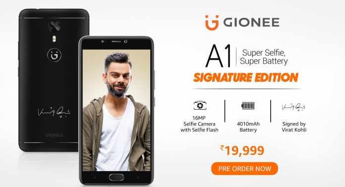 Gionee A1 Virat Kohli Signature Edition