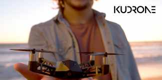 Kudrone Palm-Sized Drone With 4K Camera