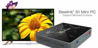 Beelink S1 Mini PC with Windows 10, 4GB RAM and Voice Contro