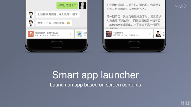 MIUI 9 Features Smart app launcher