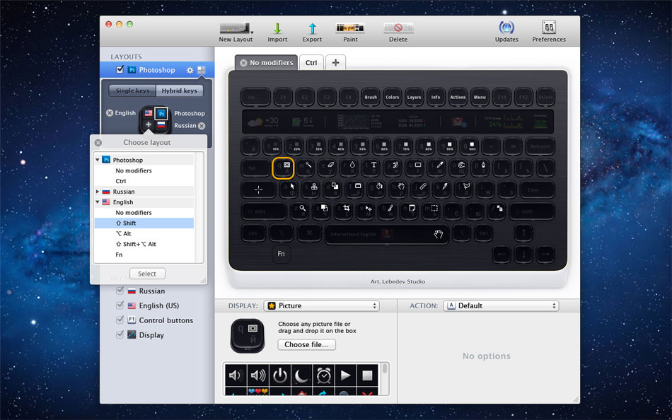 Optimus Popularis Keyboard configurator