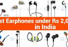 Top 10 Best Earphones under 2000 Rs in India
