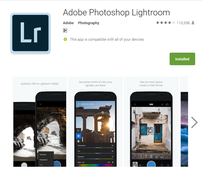 Top Slefie App Adobe Lightroom
