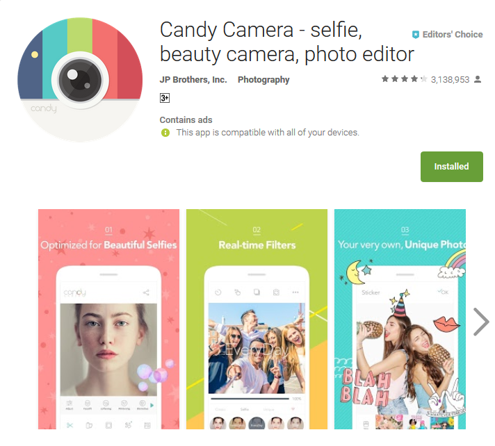 Top Slefie App Candy Camera