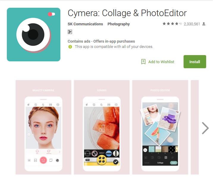 Top Slefie App Cymera