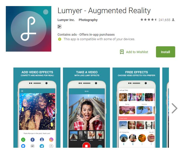 Top Slefie App Lumyer