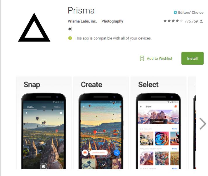Top Slefie App Prisma