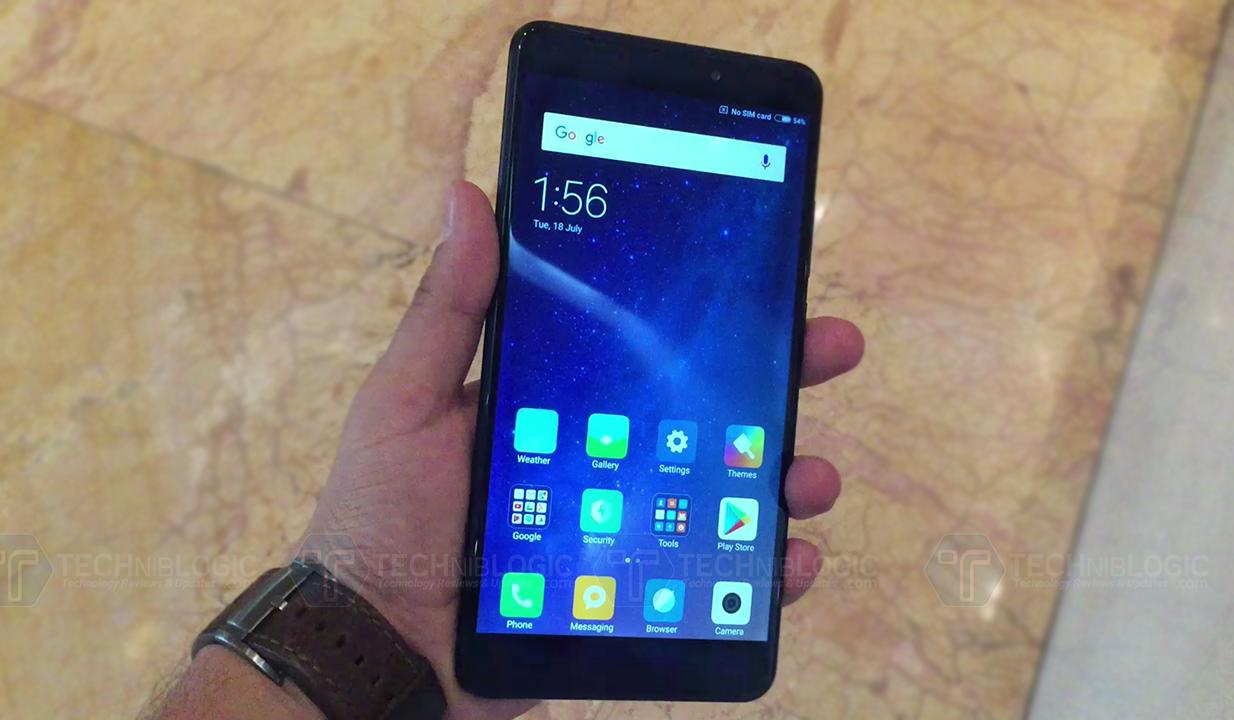 Xiaomi Mi Max2 with 6.44-inch FHD display