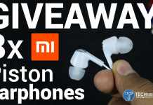 Xiaomi Mi Piston Earphones GIVEAWAY
