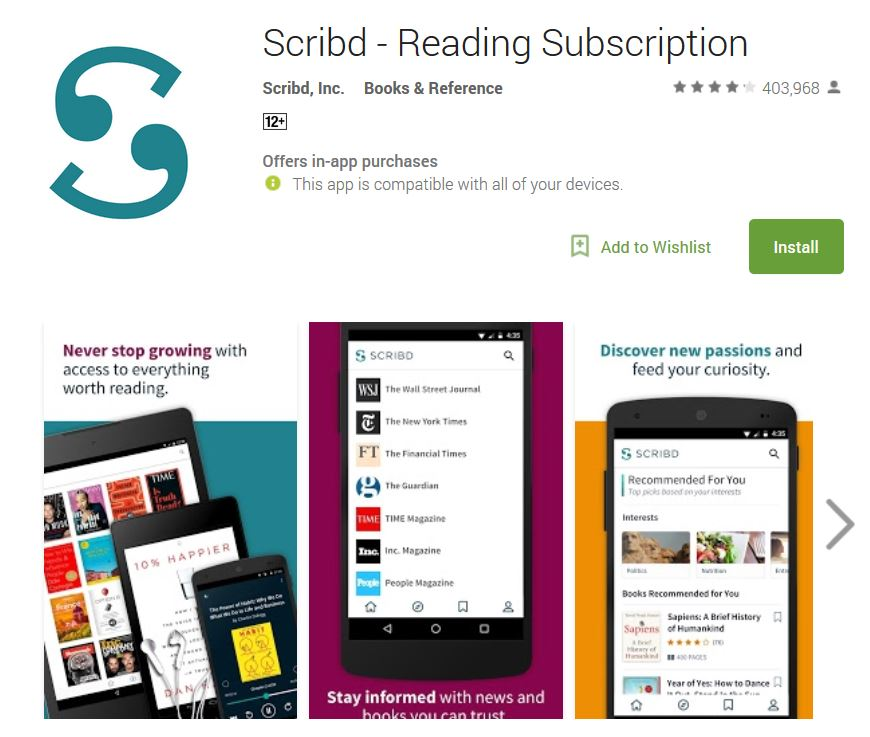 scribd reading subscription