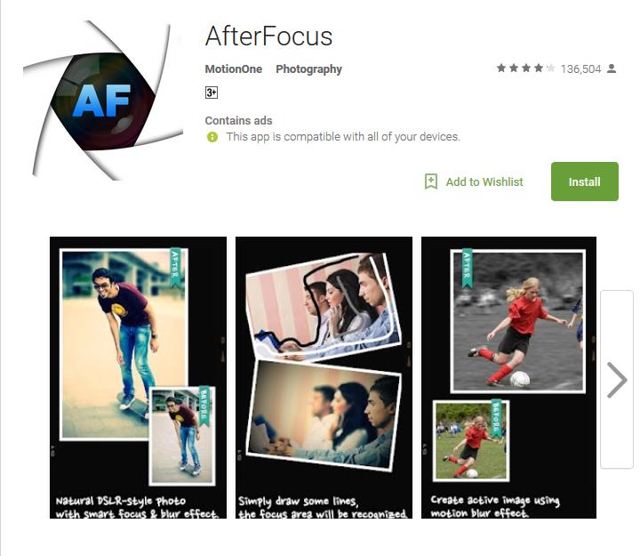 Camera app After focus