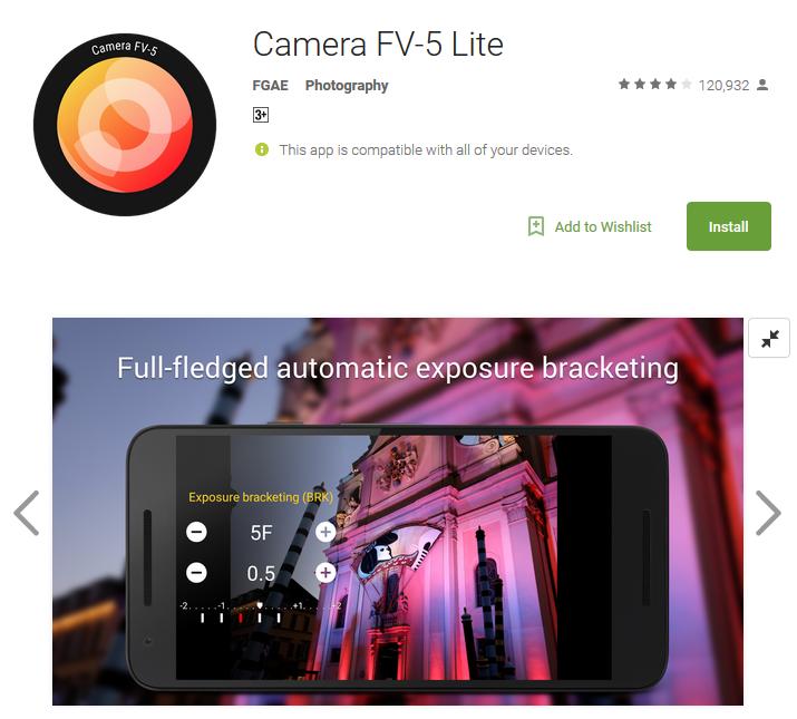 Camera app Camera FV5 lite