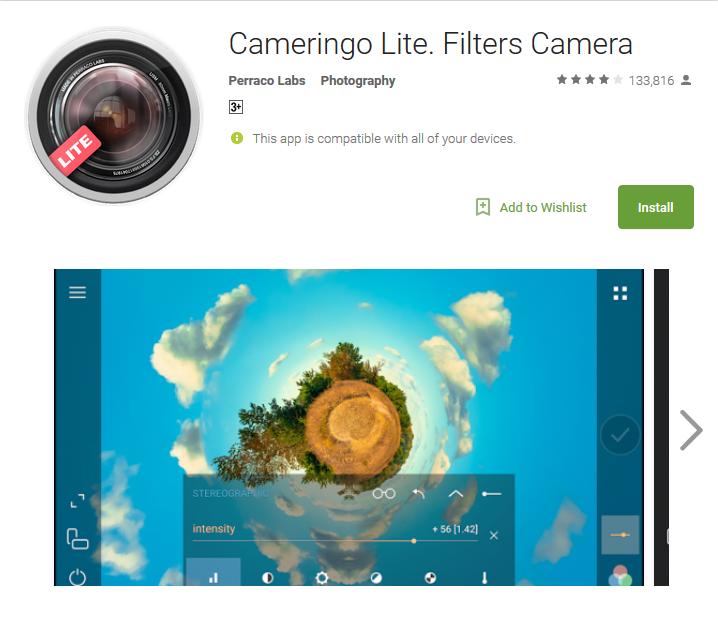 Camera app Cameringo lite