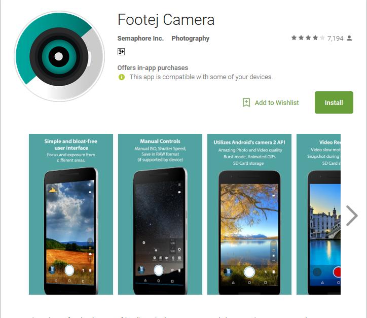 Camera app Footeh Camera