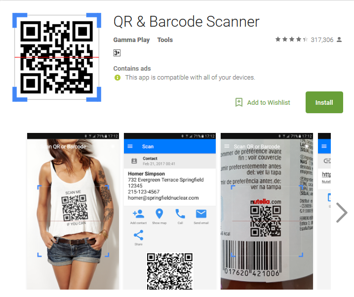 Camera app QR & Barcode Scanner