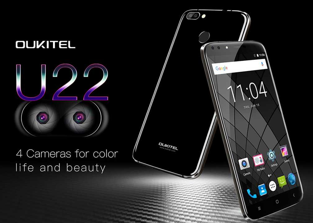 Oukitel U22 with 4 Cameras