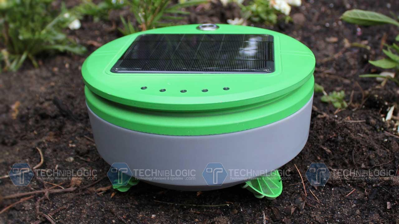 Solar-powered Tertill Robot