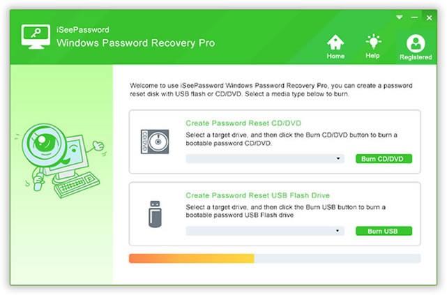 Use of iSeePassword Windows Password Recovery Pro