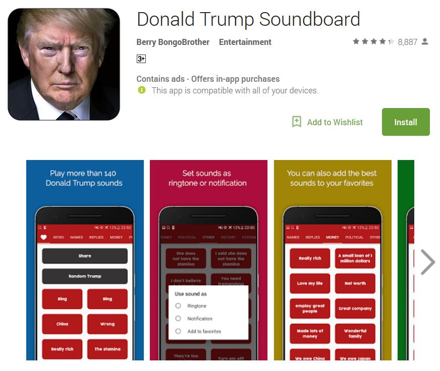 donald trump soundboard