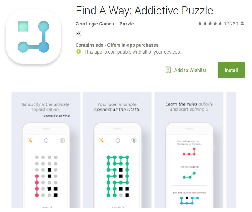 find the way addictive android game