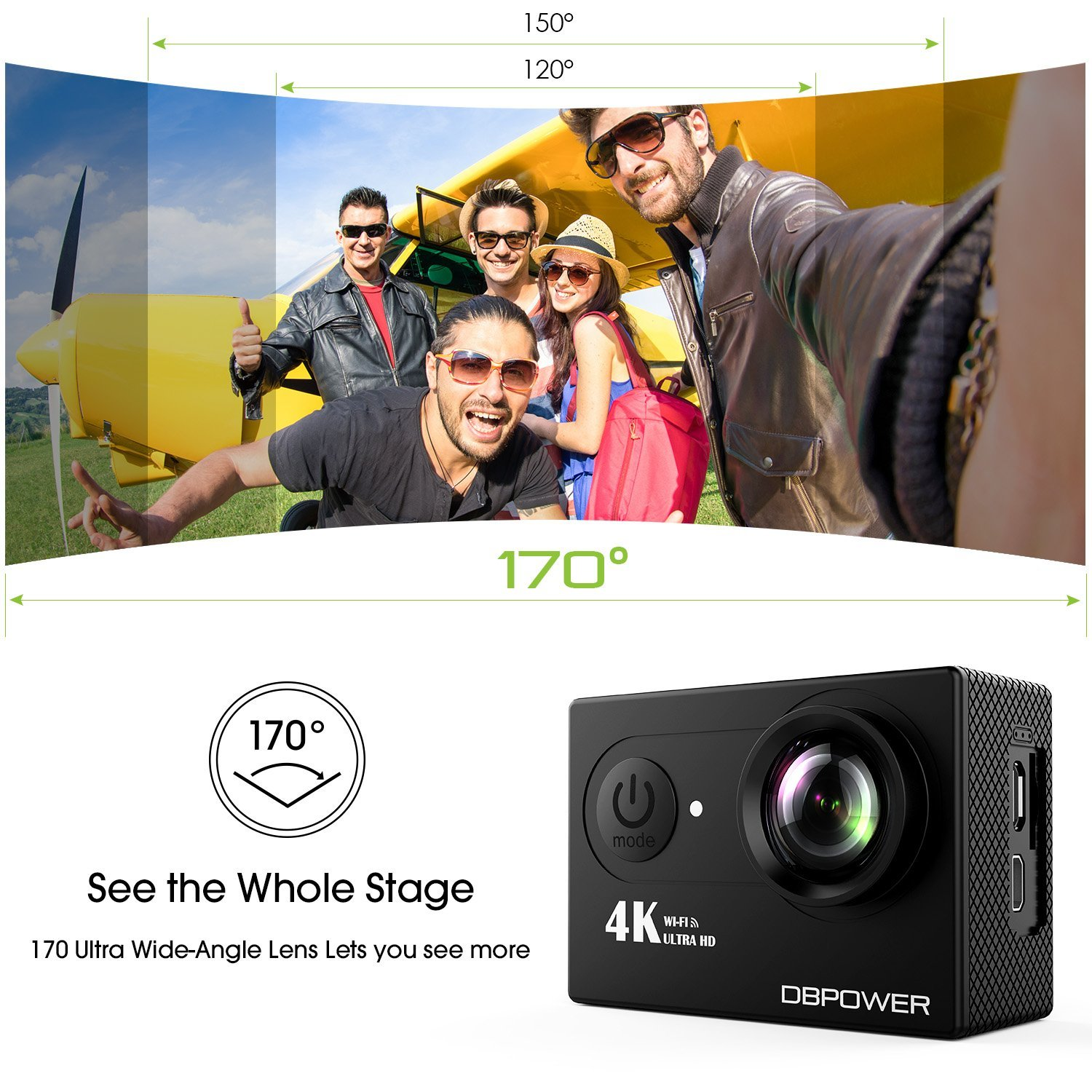 Record 4K videos with Cheapest Action Camera 1
