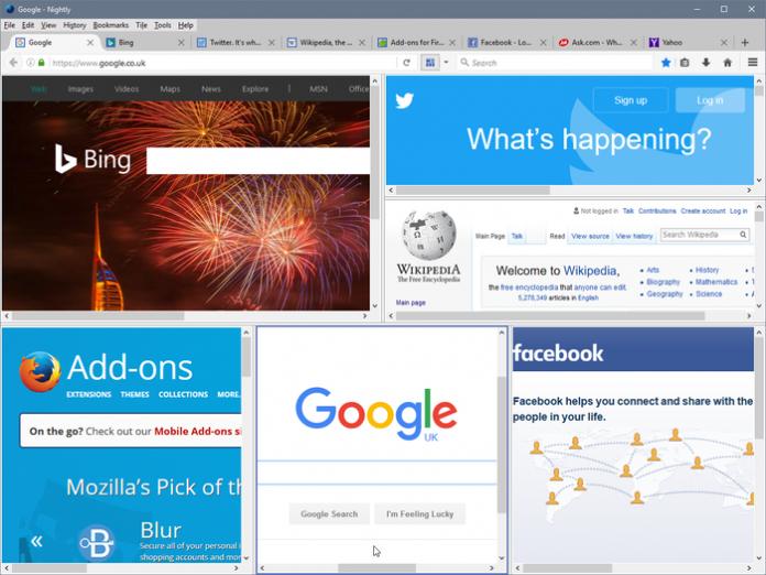 Firefox Add ons tile