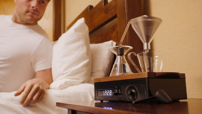 The Smart Alarm Clock that Makes Coffee for You