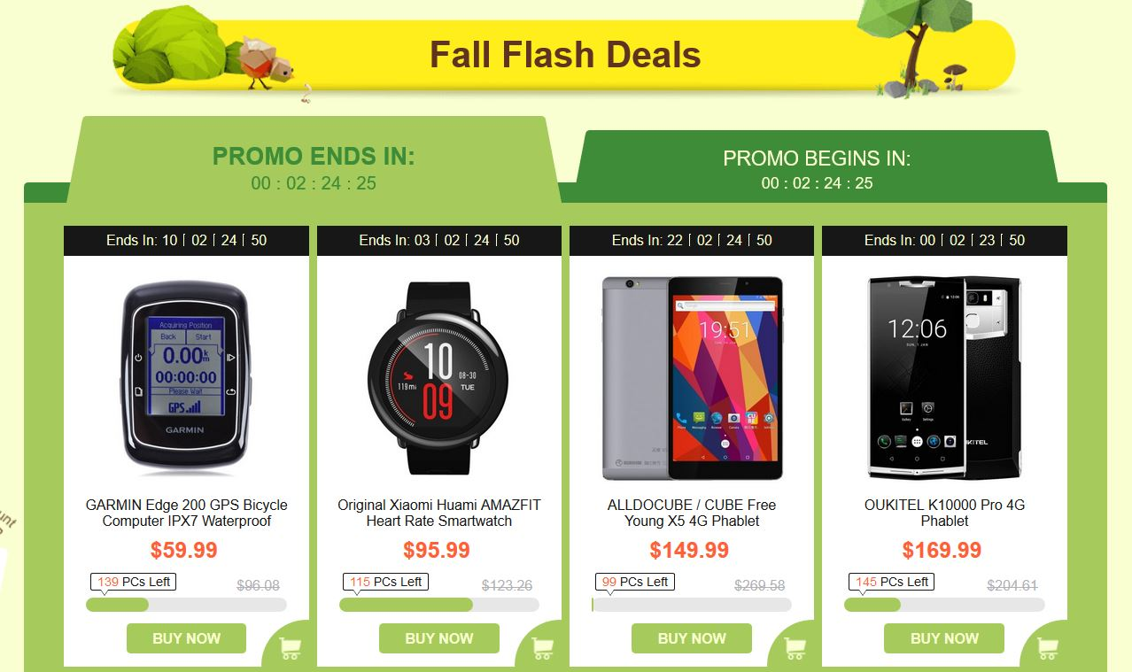 fall gearbest flash deals sept 2017