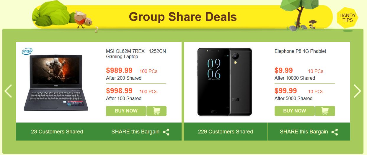 gearbest group share deals sept 2017