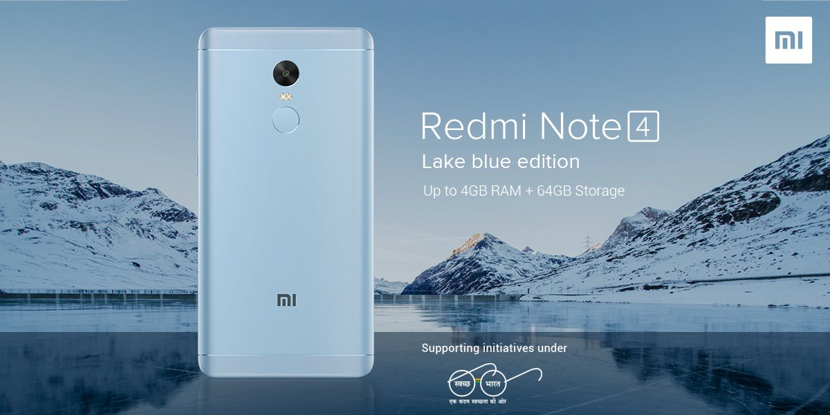 Xiaomi Launches Limited Lake Blue Edition Of Redmi Note 4 In India