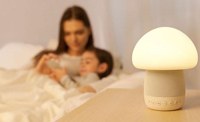 Emoi-Smart-Touch-Lamp-Bluetooth-Speakers-Mushroom-shape
