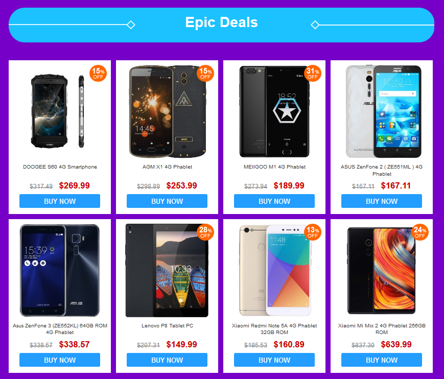 Gearbest ANDROID Mobile Phones Sale