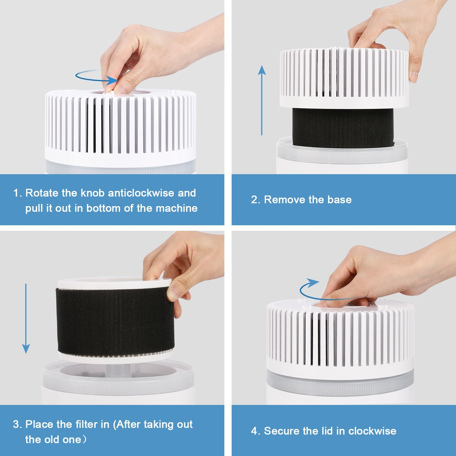 Koios Desktop Air Purifier with True HEPA Filter 1