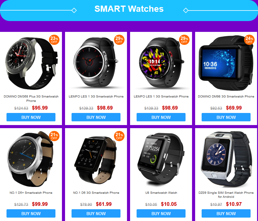 Smartwatches Shopping Festival - GearBest com