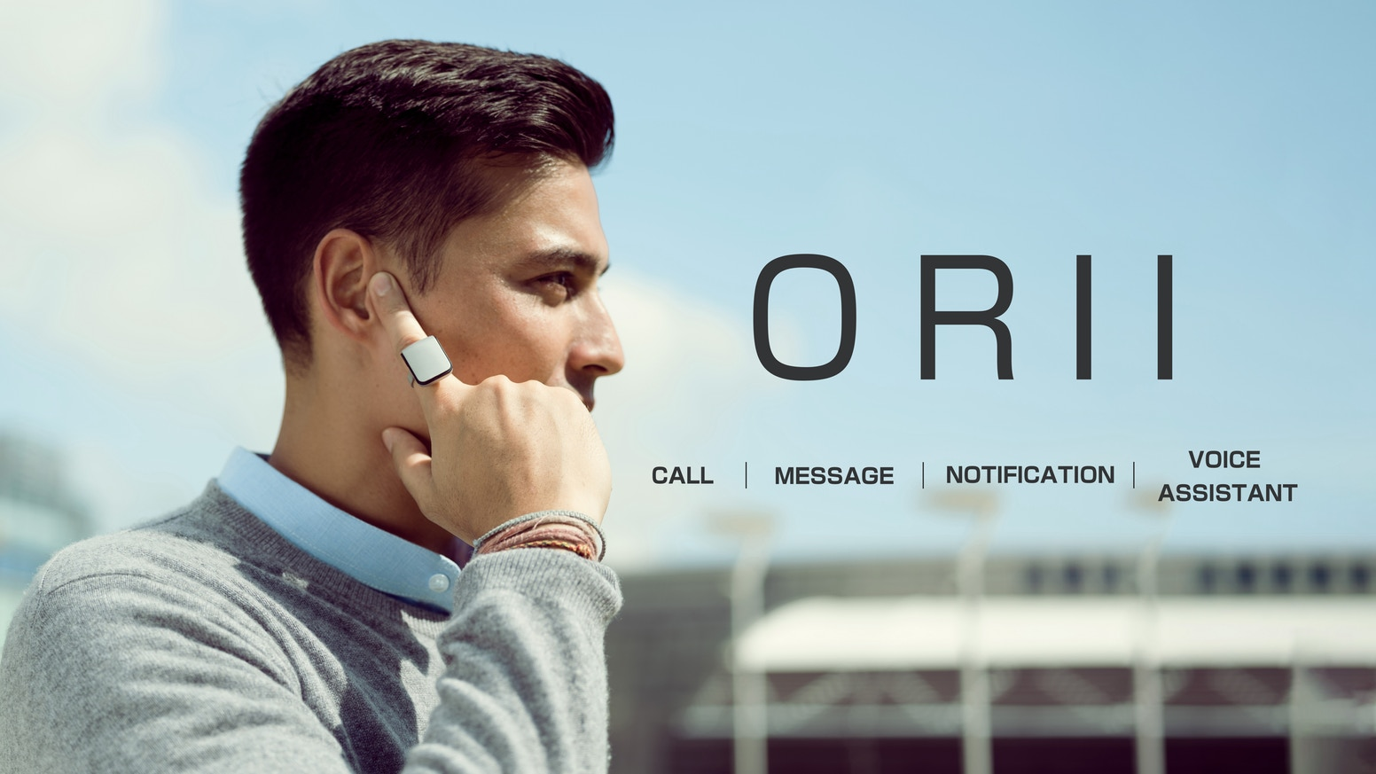 Text and Call without screen with this ORII Smart RING