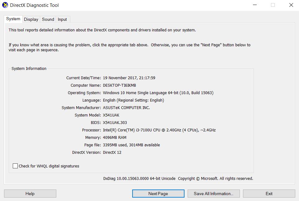 Asus Vivobook Max X541 laptop details