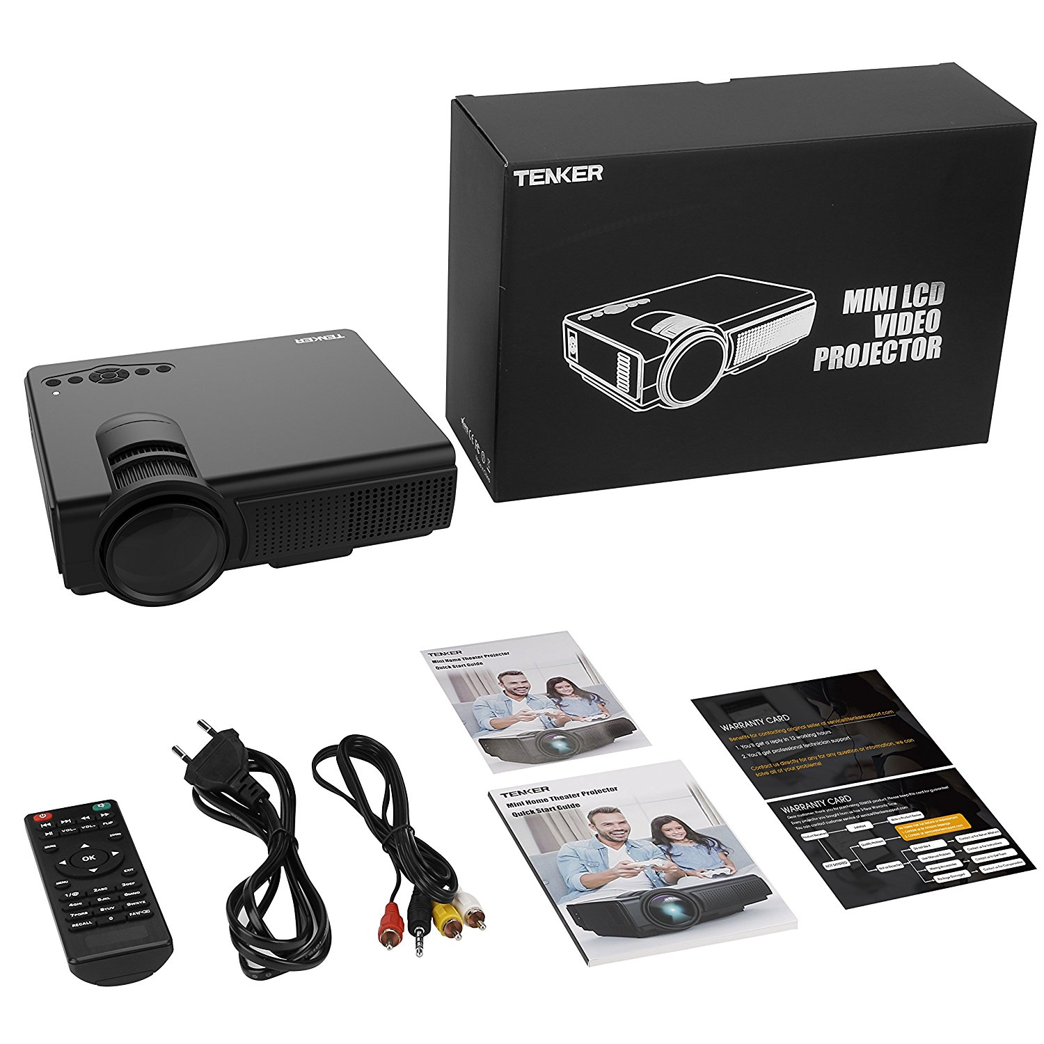 Tenker Q5 Mini LED Projector with 1080p Support 2