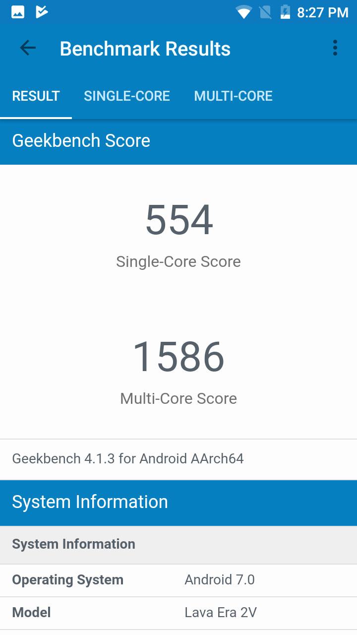 Xolo-Era-2V-Geekbench-Score