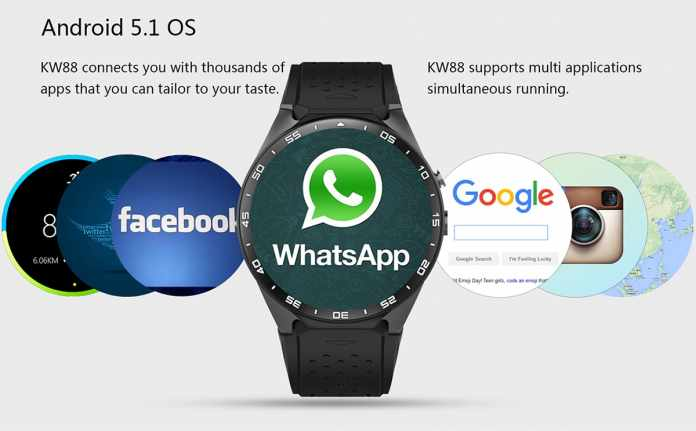 Smartwatch Revolution – KingWear KW88 With Android 5.1