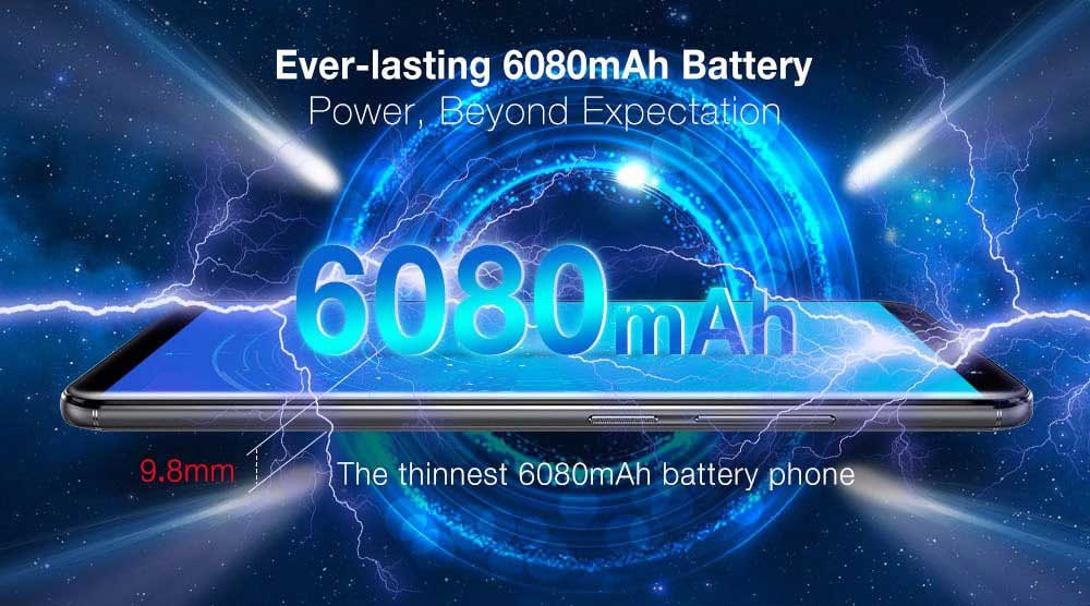 Ulefone Power 3 with 6080mAh Battery, 6GB RAM and Face ID