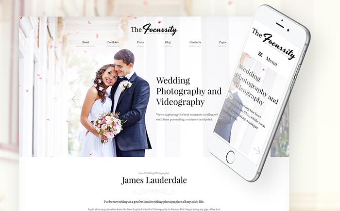 Romantic Focussity – Wedding Photography WordPress Theme