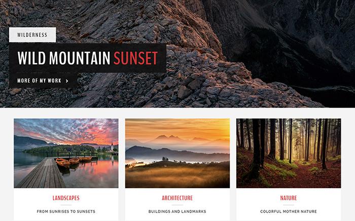 Stunning Landscape - a Photography WordPress Theme