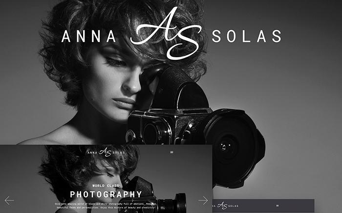 mpressive Anna Solas – Photographer Portfolio WordPress Theme