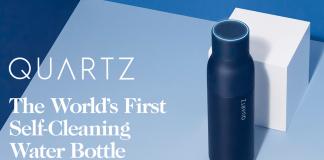 QUARTZ Bottle - Water Purification in a Self-Cleaning Bottle