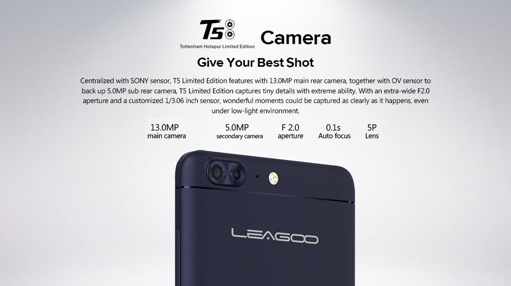 leagoo t5 smartphone camera specs