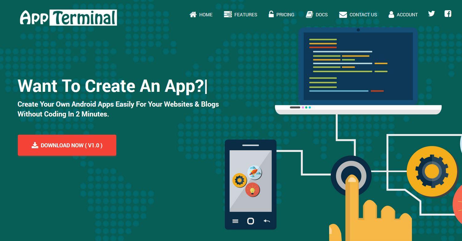 appterminal - website to apk builder