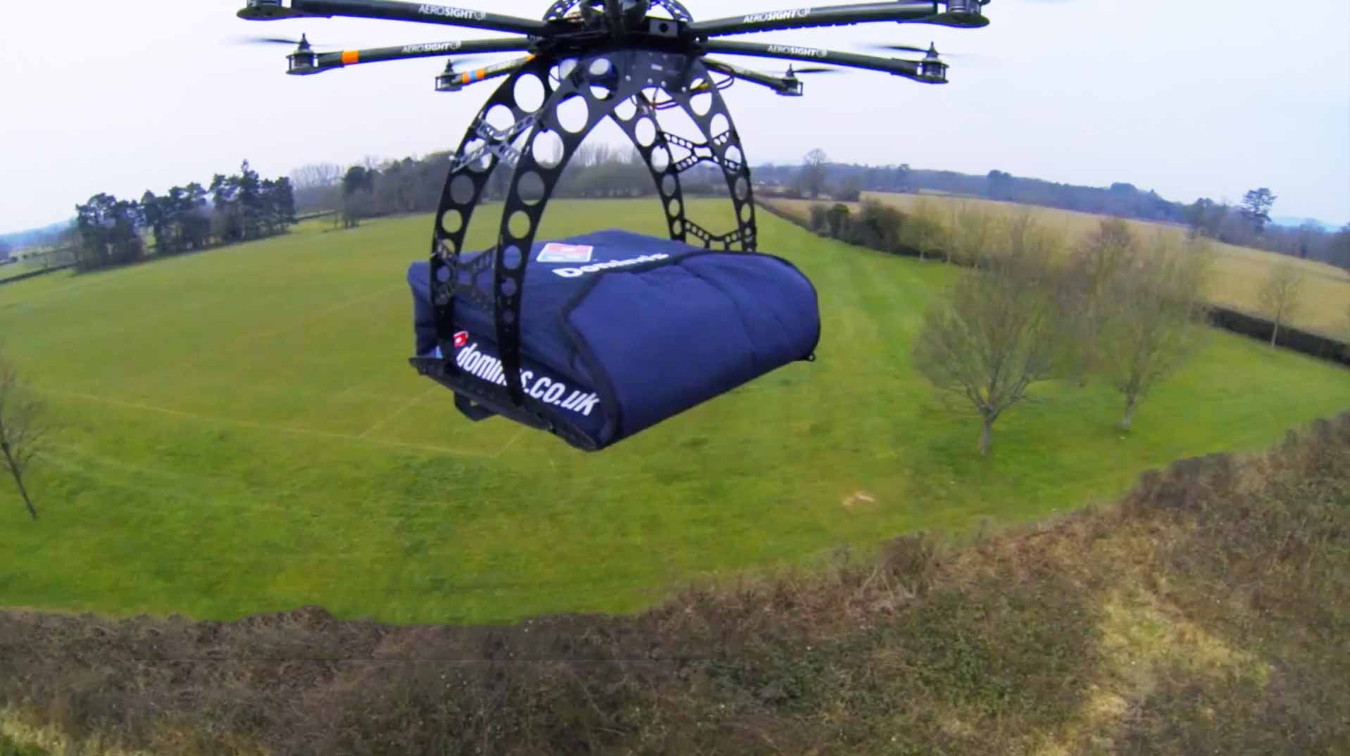 Dominoes delivery drone